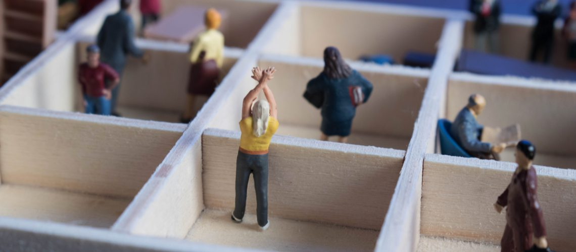 Miniature People in Boxes - Web
